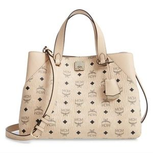 MCM Large Klara Visetos Diamond Hobo Shopper